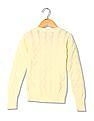 U.S. Polo Assn. Kids Girls Long Sleeves Patterned Knit Sweater