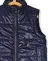 The Children's Place Boys Blue Solid Puffer Vest