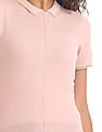 U.S. Polo Assn. Women Short Sleeve Knitted Top