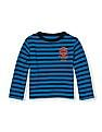 The Children's Place Toddler Boy Long Sleeve Sporty Graphic Striped Thermal Top