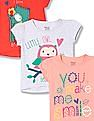 Donuts Girls Short Sleeve Graphic T-Shirt - Pack Of 3