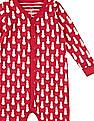 GAP Baby Red Snowman Print Bodysuit