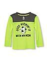 The Children's Place Boys Place Sport Long Sleeve Graphic Colour Block V-Neck Top