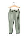 GAP Toddler Girl Green Bow Joggers