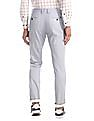 Arrow Sports Blue Chrysler Slim Fit Printed Trousers