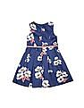 U.S. Polo Assn. Kids Girls Floral Print Fit And Flare Dress