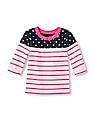 The Children's Place Toddler Girl Full Sleeve Contrast Panel Bow Top