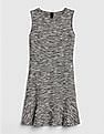 GAP Black Sleeveless Fit and Flare Dress in Boucle