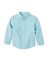 The Children's Place Toddler Boy Blue Long Sleeve Oxford Shirt