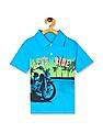 The Children's Place Toddler Boy Blue Short Sleeve Graphic Jersey Polo
