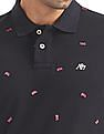 Aeropostale Regular Fit Flag Print Polo Shirt