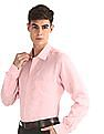 Arrow Pink French Placket Linen Shirt