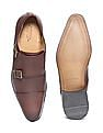 Arrow Monk Strap Leather Shoes