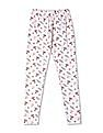 Cherokee Girls Elasticized Waist Floral Print Leggings