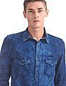 Cherokee Washed Patterned Weave Shirt