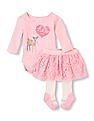 The Children's Place Baby Deer Skirt Set
