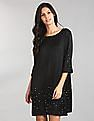 GAP Embellished Pearls And Rhinestones A-Line Dress