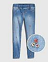 GAP Girls Superdenim Embroidered Jeggings With Fantastiflex