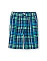 The Children's Place Boys Blue Pull-On Plaid Shorts