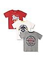 Cherokee Boys Short Sleeve Graphic T-Shirt - Pack Of 3