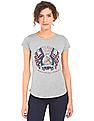 U.S. Polo Assn. Women Regular Fit Heathered T-Shirt