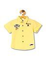 Donuts Boys Embroidered Applique Short Sleeve Shirt